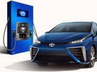 Mirai hydrogen fuel station demo